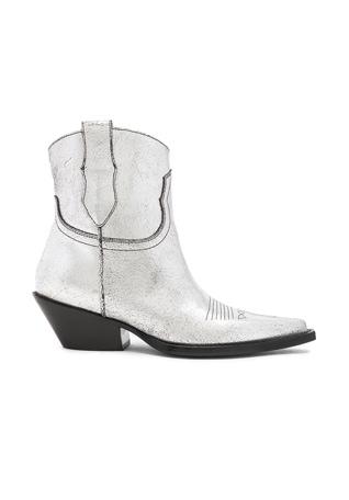 Metallic Short Western Boots