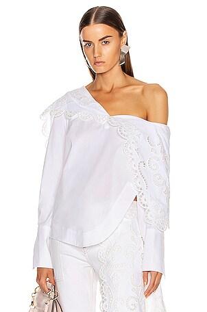 Louise Lace Folded Collar Shirt