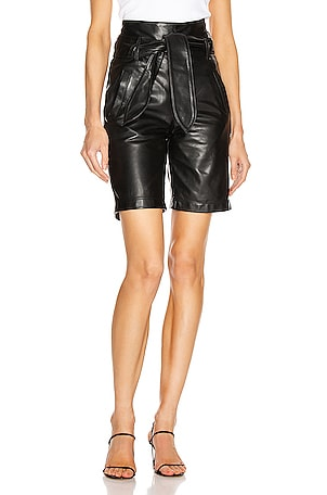Brennan Leather Bermuda Short