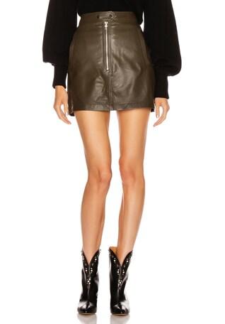 Alexander Mini Leather Skirt