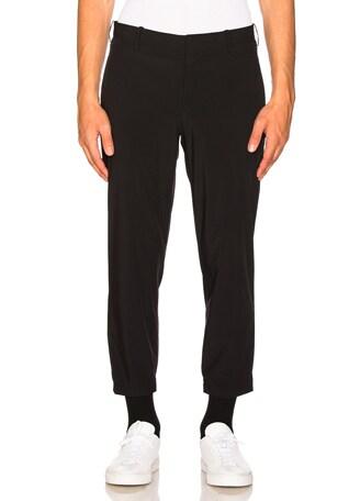 Nylon Hem Detail Trousers