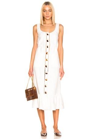 Button Front Garden Dress