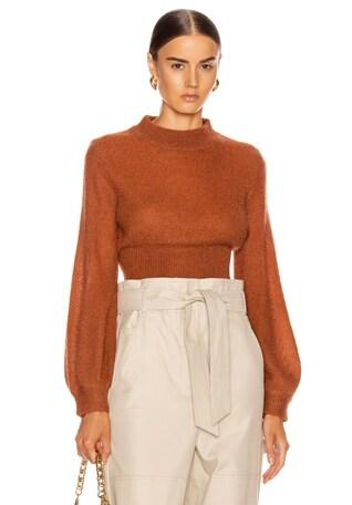 Fine Mohair Blouson Sweater