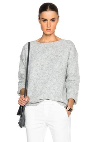 Ballet Neck Boxy Sweater