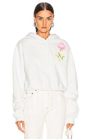 Flowers Woman Crop Hoodie