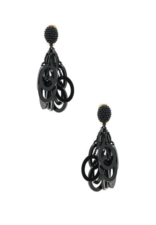 PVC Circle Link Earrings