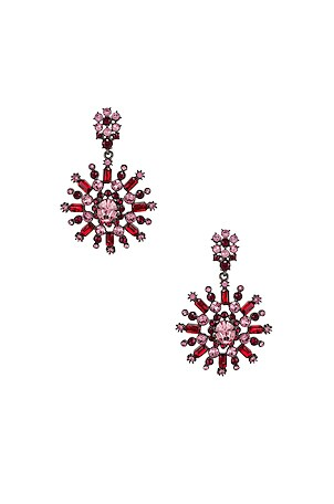Flower Pave Earrings