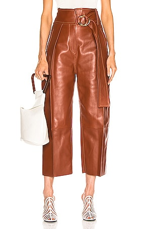Haena Wide Leg Leather Pant