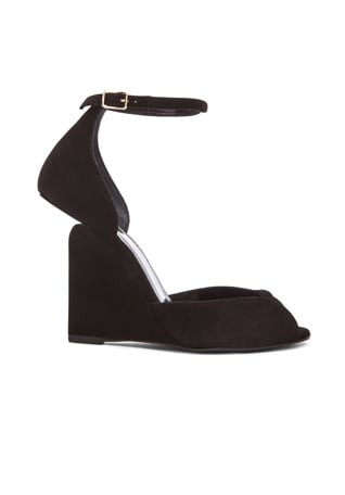 Arp Suede Cutout Wedge Sandals