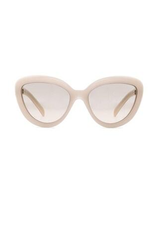 Rounded Cat Eye Sunglasses