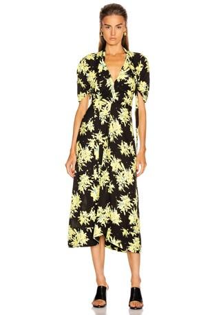 Splatter Floral Tie Dress