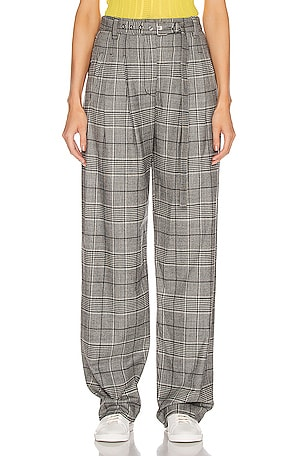 Plaid Exaggerated Plaid Pant