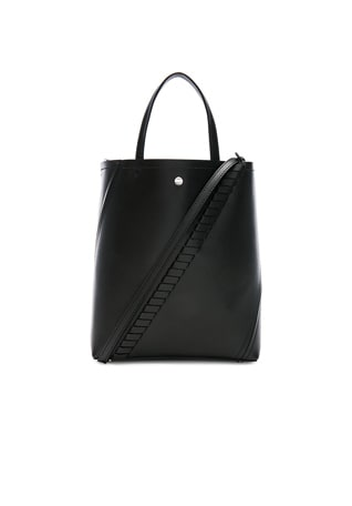 Grained Leather Hex Tote
