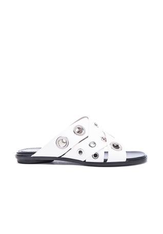 Eyelet Slide Sandals