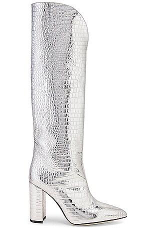Metallic Croco High Boot