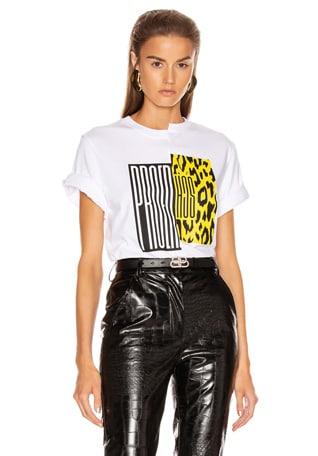 Asymmetrical Logo T Shirt