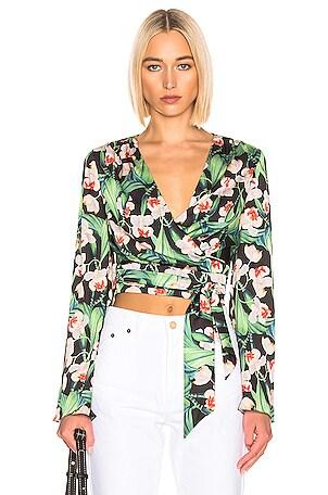 for FWRD Kimono Sleeve Wrap Top