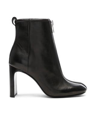 Leather Ellis Zip Boots
