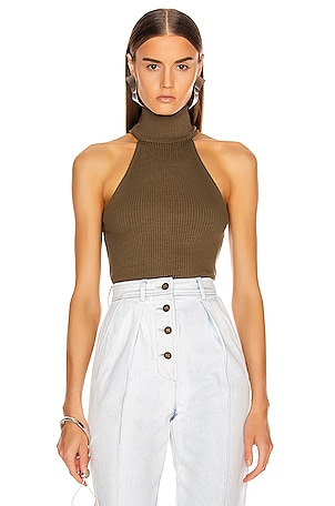 Alloy Rib Sleeveless Turtleneck