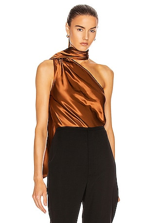 Liquid Satin Convertible Scarf Neck Tank
