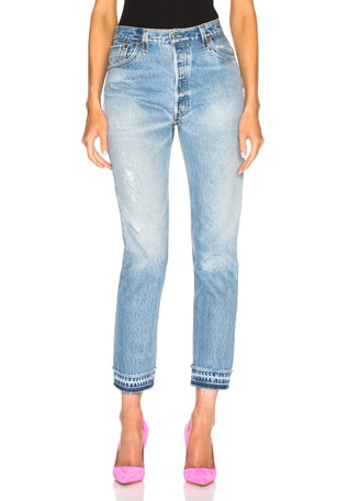 LEVI'S Released Hem High Rise Ankle