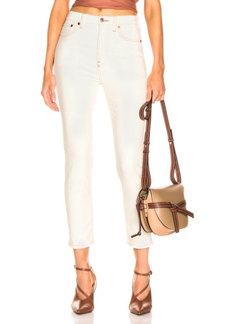 Corduroy High Rise Ankle Crop