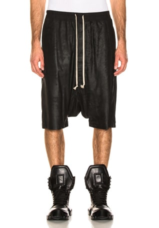 Leather Pod Shorts