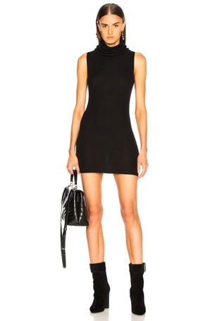 Ribbed Sleeveless Tube Dress