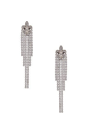 Fleur de Lis Crystal Earrings
