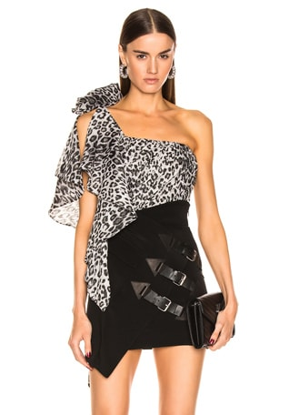 One Shoulder Leo Ruched Top