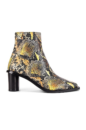Oval Heel Ankle Boots