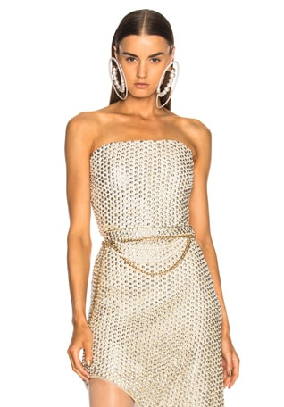 Beaded Strapless Bustier