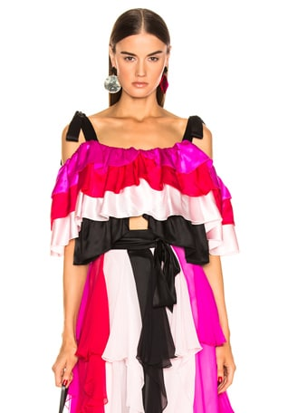 Tiered Off the Shoulder Blouse