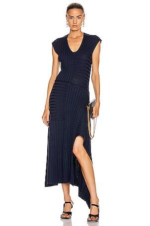 Patchwork Rib Dress
