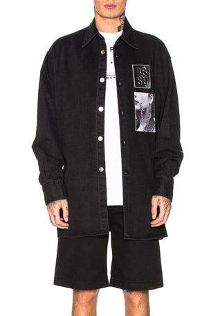 Big Fit Patched Shirt