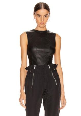 Claire Leather Bodysuit