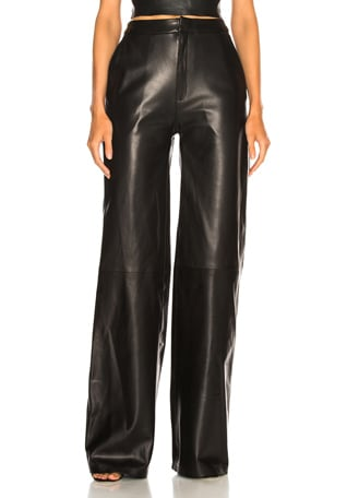 Josephine Wide Leg Leather Pants