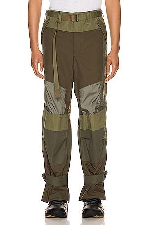 Fabric Combo Pants
