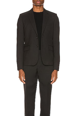 Two Button Gabardine Blazer