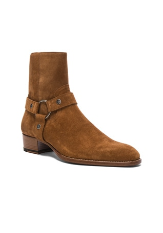 Wyatt Suede Harness Boots