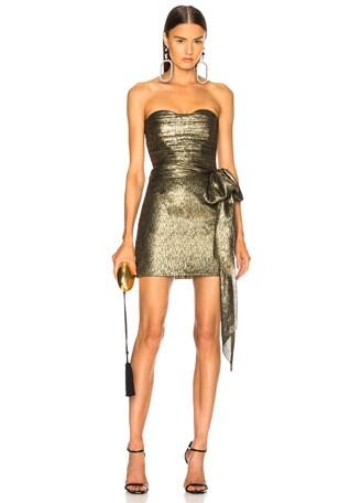 Jacquard Bustier Mini Dress