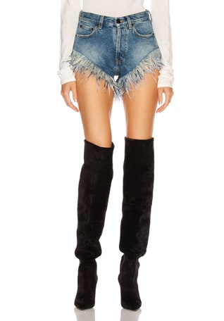 Slim Fit Feathers Short
