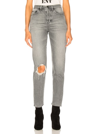 Slim Fit Knee Hole Jeans