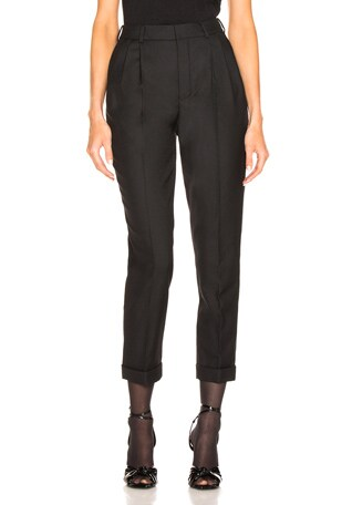 Gabardine High Waisted Pants