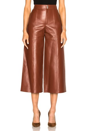 Leather Slouch Culottes