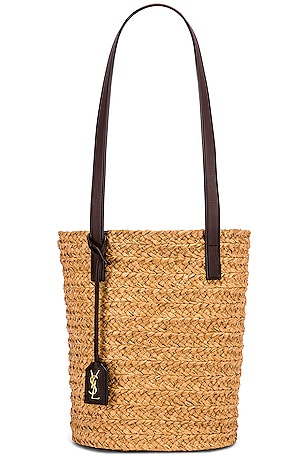 Small Rafia Panier Bucket Bag