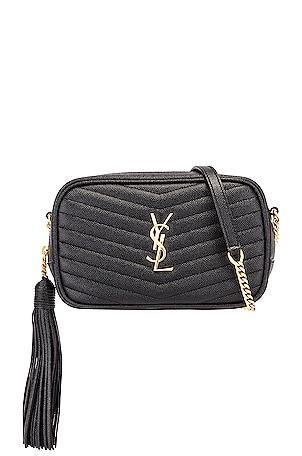 Leather Monogramme Mini Lou Crossbody Bag