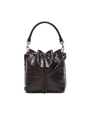 Croc Effect Medium Emmanuelle Bucket Bag