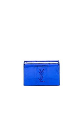 Toy Metallic Kate Snakeskin Monogramme Strap Wallet Bag