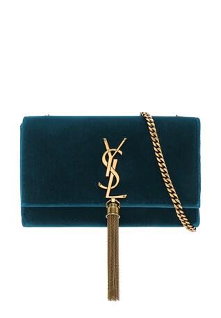 Small Velvet Monogramme Kate Tassel Chain Bag